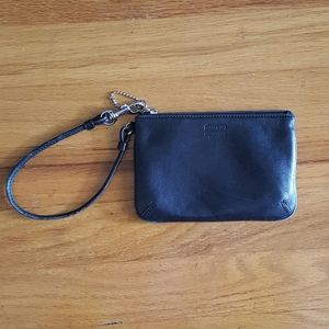 Coach Small Black Leather Wristlet